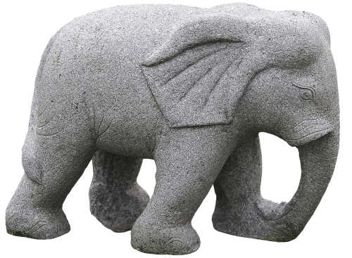 elephant stone figure sculpture