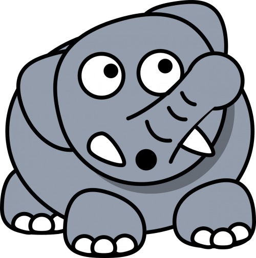 elephant cartoon worried