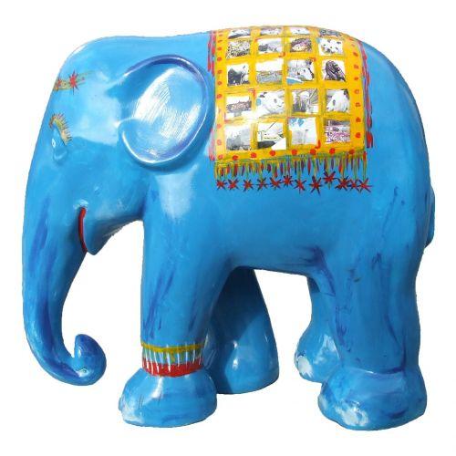 elephant parade blue elephant trier
