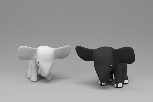 elephants white elephant black elephant