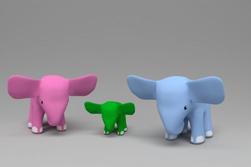 elephants slonyata toy