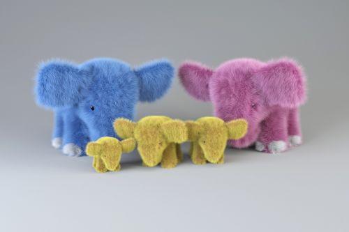 elephants family toys