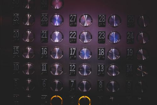elevator buttons numbers