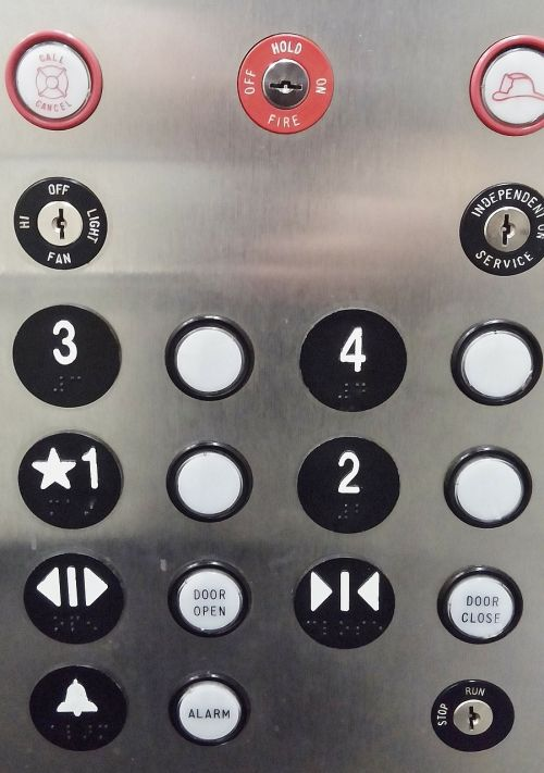 elevator buttons elevator buttons