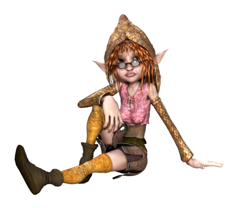 elf female sitting