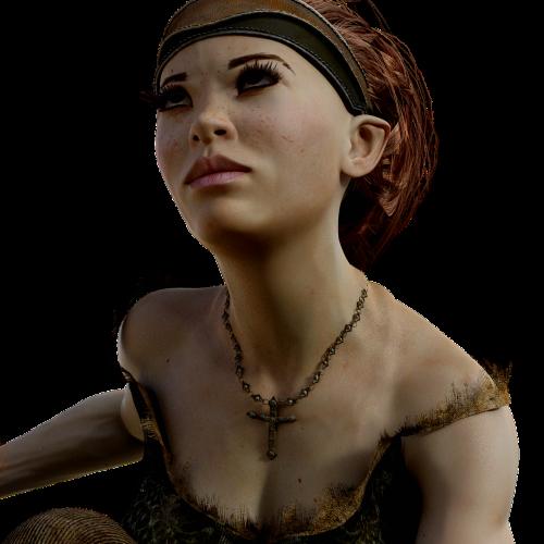 elf portrait cross