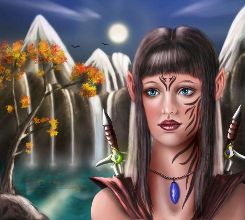Elfas,figūra,vaizduotė