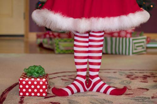 elf christmas christmas socks