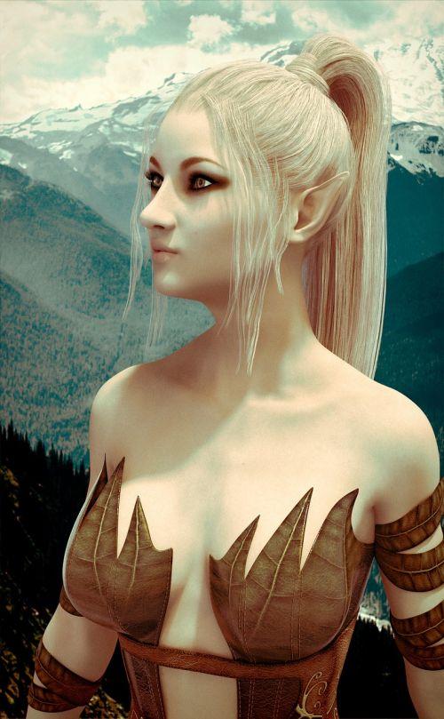 elf girl fantasy cover book cover