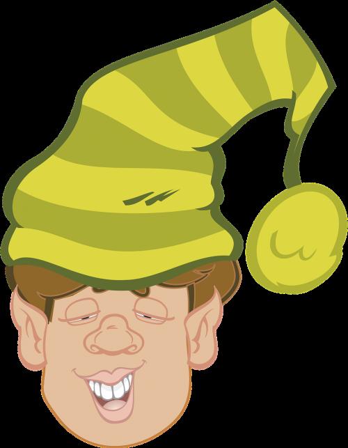 elve hat green