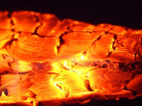 embers wood warm