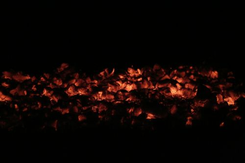 embers fire campfire