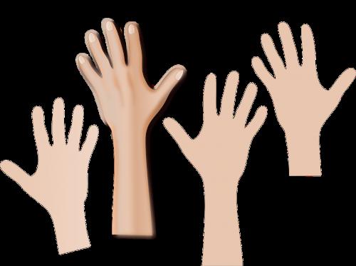 emboss hand human