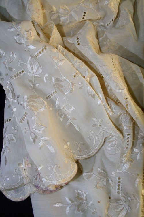 Embroidered Bed Jacket