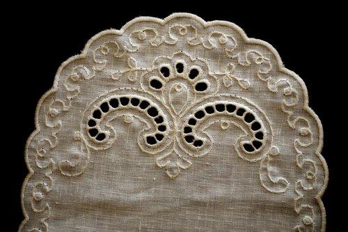 embroidery  handicraft  doily