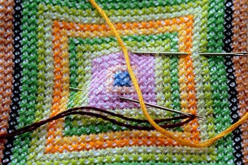 embroidery  handicraft  wyszywać