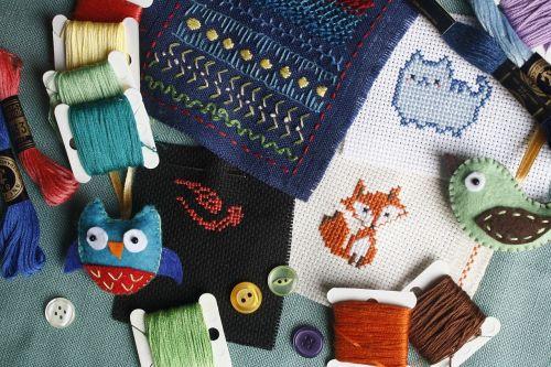 embroidery needlework cross-stitch