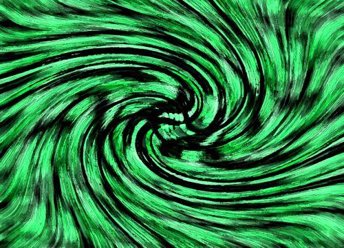 Emerald And Black Swirl