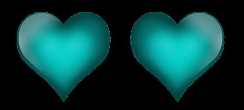 emerald green hearts heart love