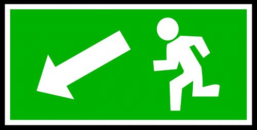 emergency exit green