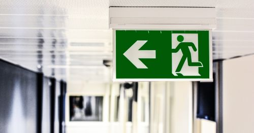 emergency exit exit sign