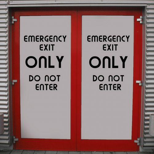 emergency exit output door