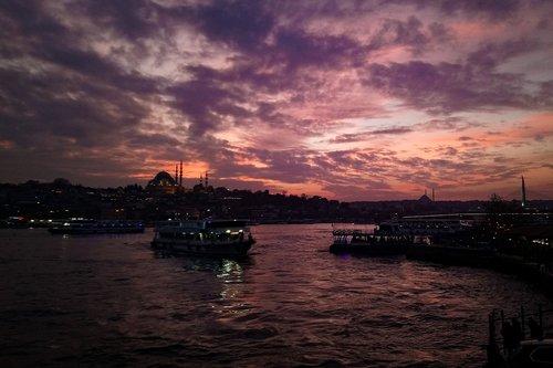 eminönü  in the evening  afternoon
