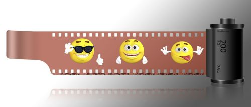 emoji film strip funny