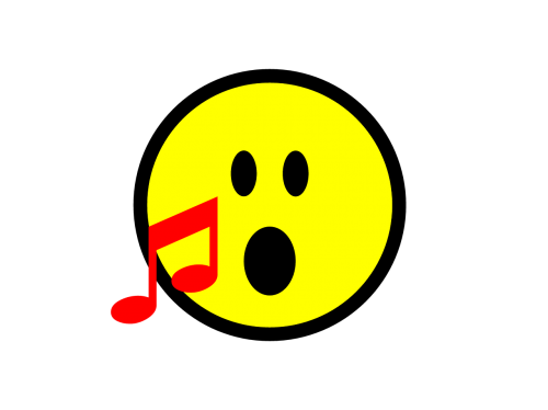 emoji sing singing