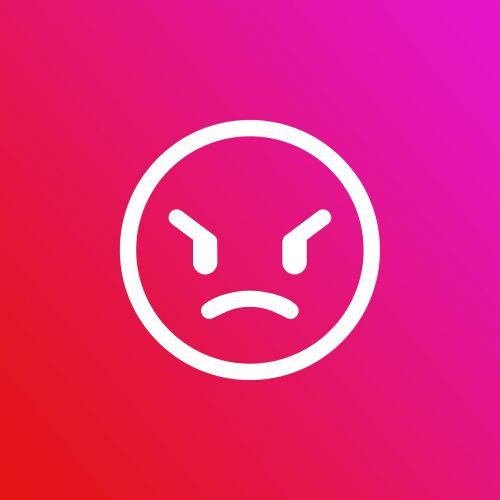 emoji gradient angry
