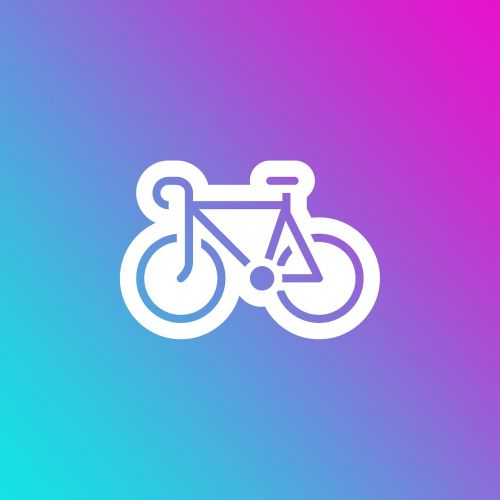 emoji gradient bike