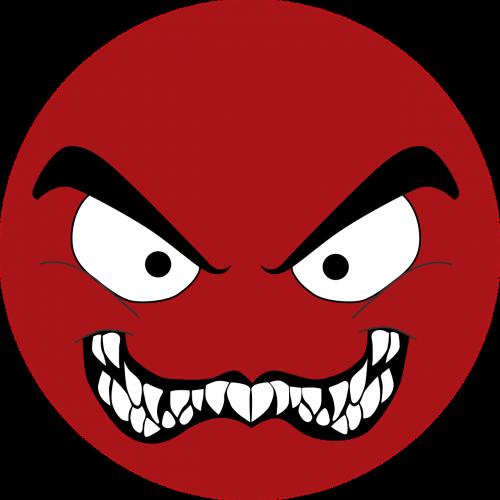 emoji red emoji evil emoji