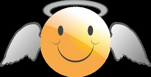 emoticon smiley angel