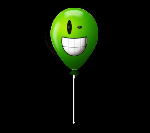 emoticon balloon crazy