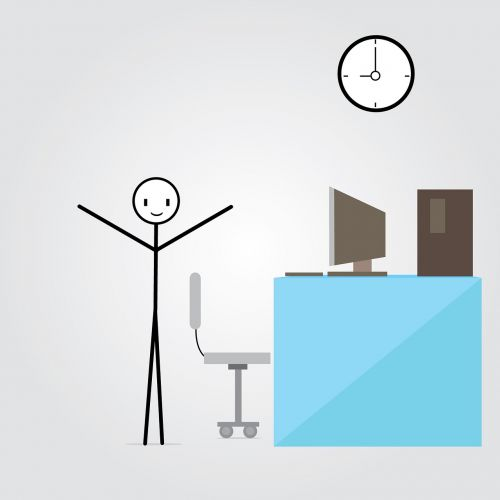 employee work computer
