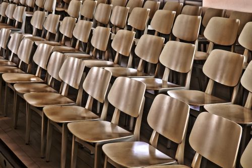 empty sit chairs