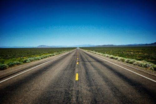 Empty Road In American West