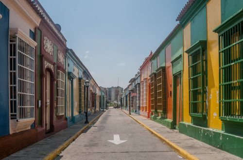 empty street shops stores