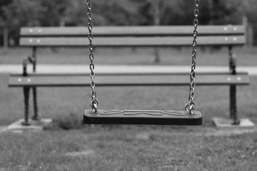 empty swing  bench  depopulation