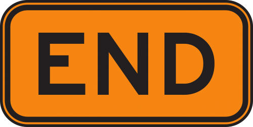 end sign road