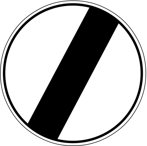 end of speed limit arrow traffic