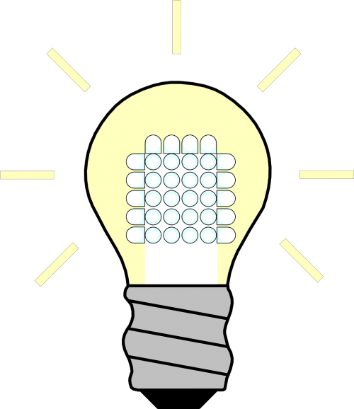 energy saving lamp led on