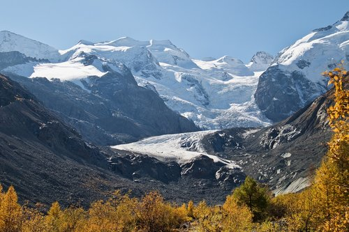 engadin  glacier  autumn