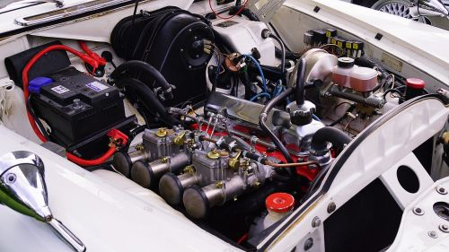 engine the engine compartment old auto