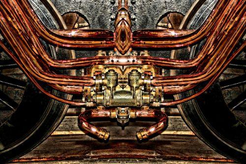 engine copper steam engine