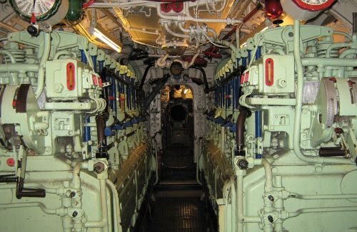 engine room u boat motor