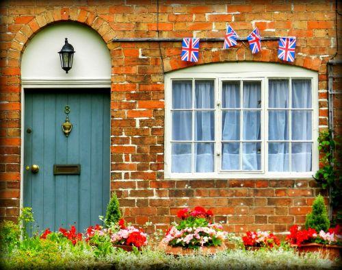 england british flag doorway