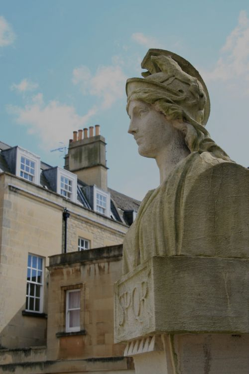 England Roman Baths Statue