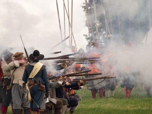 english civil war reenactment historical