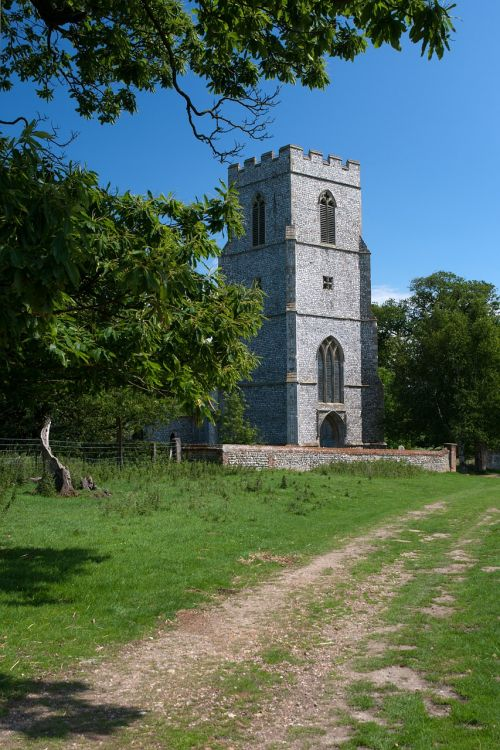 english country estate private church knapped flint